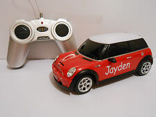 RADIO CONTROL CAR PERSONALISED NAME TOY RC CAR MINI COOPER S BOY BIRTHDAY GIFT