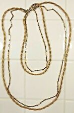 Vintage EUC Stylish Vendome Gold-Four Strand Necklace Two Tier Fabulous Fashion