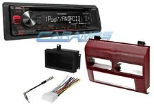 NEW KENWOOD STEREO RADIO CD PLAYER RECEIVER W/ AUX/USB INPT COMPLETE INSTALL KIT