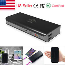 10000mAh Dual USB Portable External Battery Charger Power Bank For Cell Phone US