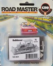 "GHQ Road Master ""Bulldozer"" N-Scale 53-001 Pewter Kit NIB"