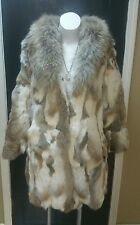 White Fox Fur Jacket Coat Jin Diao Size Medium Absolutely Gorgeous