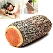Design Natural Wood Log Throw Pillow Back Soft Cushion Car Neck Home Sleeping