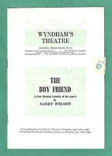 """Anne Rogers """"THE BOY FRIEND"""" Geoffrey Webb / Sandy Wilson 1955 London Program"""