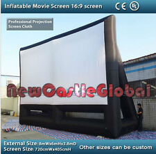 26 ft by 19ft giant inflatable outdoor movie projection screen with CE blower