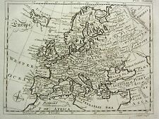 1797 MAP ~ EUROPE ~ BRITAIN IRELAND FRANCE GERMANY POLAND  + 1 PAGE TEXT ARTICLE