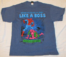 XL MARVEL COMICS SPIDER MAN MENS T-SHIRT AMAZING SUPER HERO GREEN GOBLIN BOSS!!!