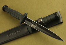 "12"" sharp Rambo VI Style Boot Dagger rubber Jungle Survival Hunting Knife GIFT"