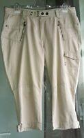 @NEU@3/4 7/8 CECIL W 36@Style Nicky TNC Cargo@ Hose Jeans Capri beige