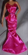 "* DRESS ONLY ~ BARBIE DOLL ""THE LOOK"" PINK GOWN MODEL MUSE ACCESSORY CLOTHING"