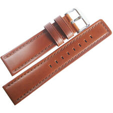 20mm Hadley-Roma MS784 Mens Brown Oil-Tan Waterproof Leather Watch Band Strap