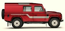 LAND ROVER DEFENDER 110 Aftermarket DECAL S-Stripes Sticker SET landrover