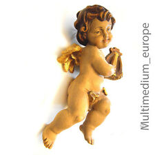Holz Figur Putto Engel Harve Schnitzerei vintage wood figure carved