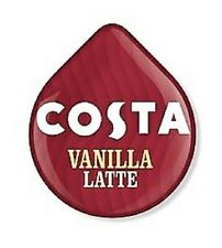 8 x Tassimo Costa Vanilla Latte T Discs - 4 Large Drinks Loose T Discs - NEW