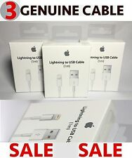 3 X Genuine Apple Lightning USB Sync Charger Data Cable for iPhone 5 5S 5C 6 6S