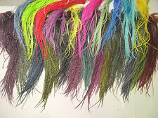 "24 DYED 6-9+"" REAL WHITING GRIZZLY FEATHER HAIR EXTENSIONS GRIZZLY & SOLID"