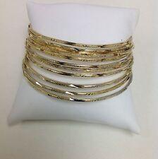 Set Of 12 high  Quality Golden Tone Bangle Bracelet.8 Around