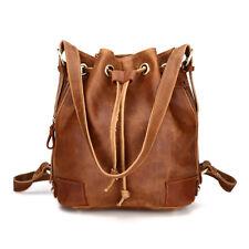 Handmade Womens Vintage Leather Shoulder Bag Handbag Backpack Fashion Bucket Bag