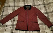 Asylum Heritage Maroon Quilted Jacket (L)