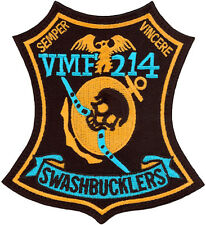 USMC MARINE ATTACK SQUADRON 214 (VMA-214) HERITAGE PATCH - SWASHBUCKLERS