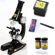 200X 100X 450X Microscope Kit Student Kids Science Chemical Laboratory Magnifier