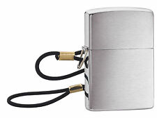 Zippo Windproof Brushed Chrome Lighter With Lanyard, Lossproof, 275, New In Box