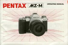 180454 PENTAX MZ-M GENUINE INSTRUCTION MANUAL
