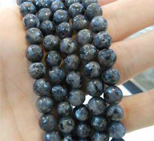 "10mm Faceted India Black Gray Labradorite Gems Round Loose Beads 15""A+++"