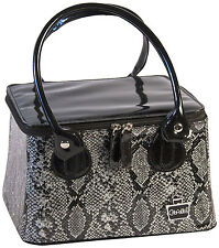Caboodles Tapered Tote Sassy Makeup Cosmetic It Bag Faux Snakeskin (Vinyl)