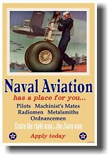Naval Aviation Has a Place For You - NEW Vintage WW2 Art Print Military POSTER