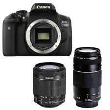 Canon EOS 750d + Canon EF-S 18-55mm is STM + Canon EF 75-300mm III nuevo/new