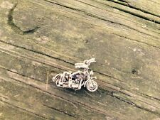 Vintage Sterling motorcycle Charm Or Pendant - Detailed - Well Crafted Free ship