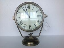 Pottery Barn Ships Clock Aluminum Antique Brass Finish New Sold Out at PB