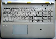 new for SONY Vaio Fit SVF152C SVF153 svf152c29x touchpad cover white US keyboard