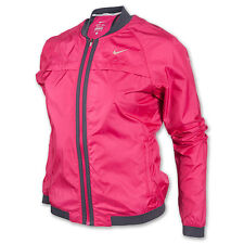 NIKE DRI FIT SPHERE BOMBER WOMENS TRACK RUNNING JACKET M PINK THERMAL 520336 660