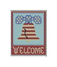 Liberty Bell Welcome~Large Pony Bead Banner Pattern Only