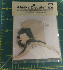 Alaska Diecuts - Set of 3 Alaska Map Shaped Die Cuts - 3 different sizes - Green