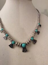 Lucky Brand Silver Tone Turquoise Bird Necklace $49 Item 129 (8)