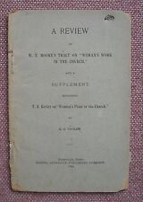 """""""Woman's Work In The Church"""" G. G. Taylor 1896 Church of Christ VERY RARE !!"""