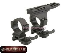 Quick Detach Heavy Duty 30mm Scope Ring Mount Set w/ Top Picatinny Rail Base