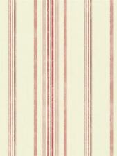 Wallpaper Designer Red and Pink Stripe on Eggshell White