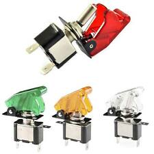 LED Dot Light 12V Car Boat Auto Round ON/OFF Rocker Toggle SPST Switch