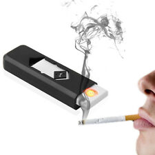 USB Electronic Rechargeable Battery Flameless Cigar Cigarette Lighter Black Q