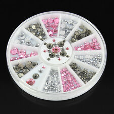 3 Colors 3D Nail Art Rhinestones Glitters Acrylic Tips Decoration Manicure Wheel