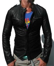 *SUPER SLIM-FIT* Spitalfields ALL SAINTS REBEL LEATHER JACKET RRP £295 $510 L