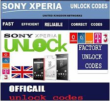 SONY XPERIA UNLOCK CODE ALL MODELS **FAST** EE O2 VODAFONE ALL NETWORKS