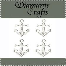 4 x 32mm Clear Diamante Anchors Self Adhesive Craft Rhinestone Gems
