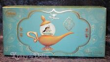 Disney Art of Jasmine Genie's Magic Lamp musical Snowglobe Aladdin LE NEW!