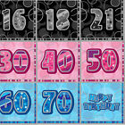 16 x Aged Happy Birthday Paper Napkins 16th-70th Party Tableware 3 ply 3 Colours