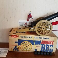 REMCO JOHNNY REB CANNON, BOX, BALLS, FLAG, INSTRUCTIONS, POSTER, WORKS
